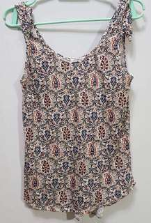 PROMOD FLORAL SLEEVE LESS TOP