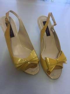 Korean yellow princess heels