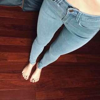 🇺🇸 歐美顯瘦高腰彈性牛仔褲 美式休閒