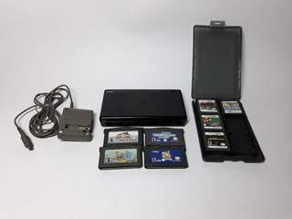 DS Lite with 8 Free Games and 110v charger