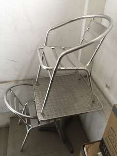 Stainless Table and Chairs