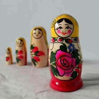 [戰鬥民族人手繪製] 俄羅斯娃娃 (4件裝)