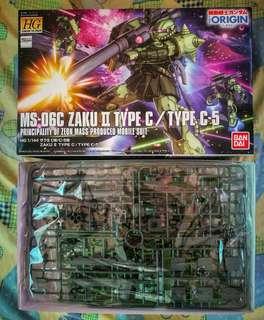 Unbuilt Bandai 1/144 HG Zaku II Type C / C-5