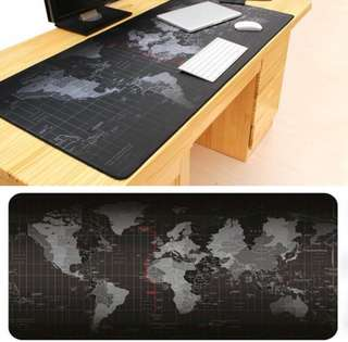 World map anti-slip rubber gaming mouse pad