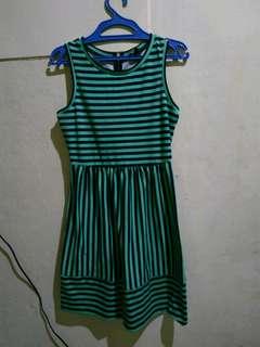 Green stripe dress
