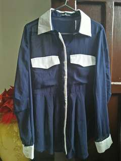 Formal blouse (royal blue)