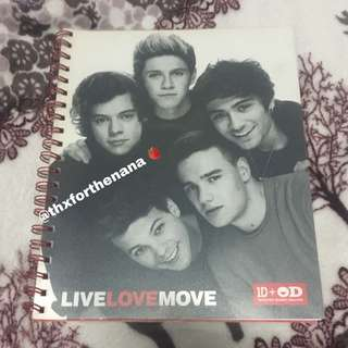 One Direction Office Depot Spiral Notebook (Limited Edition) (Harry Styles + Niall Horan + Louis Tomlinson + Zayn Malik + Liam Payne)