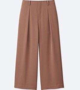Uniqlo Drape Wide Cropped Pants