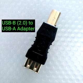 USB-A to USB-B (2.0) Adapter