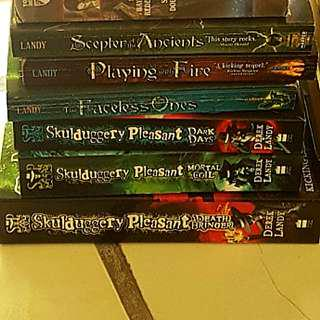 Skulduggery Pleasant Series by Derek Landy (first 6 books)