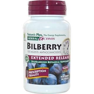 SALE Nature's Plus, Herbal Actives, Bilberry, Extended Release, 100 mg, 30 Veggie Tabs
