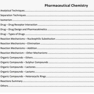 H3 Pharmaceutical Chemistry Notes