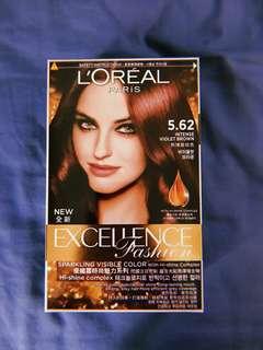 L'Oréal intense violet brown excellence hair dye