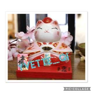 JSGF Fortune Cat Pink 11cm