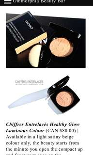 Brand new unused Chanel chiffres entrelaces healthy glow luminous color