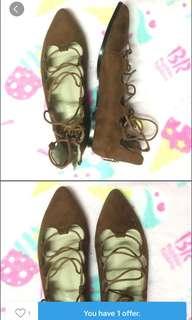Suede Tie Shoes
