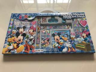 BNIB Mickey Stationery Set
