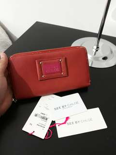 Original SEE BY CHLOE long purse with certification authentication