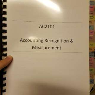 AC2101 ACCOUNTING RECOGNITION & MEASUREMENT