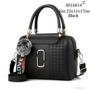 Korea Fashion Bag with Fur Ball