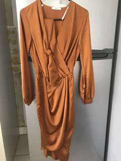 Sheike size 6 caramel dress