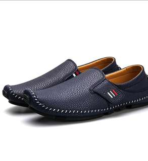 Genuine leather loafer casual shoes