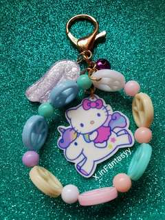 (1) Hello Kitty Riding On A Pony Bag Charm/Keychain [SOLD]