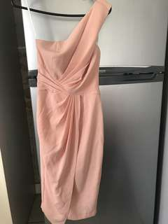 Sheike size 6 peach pink dress