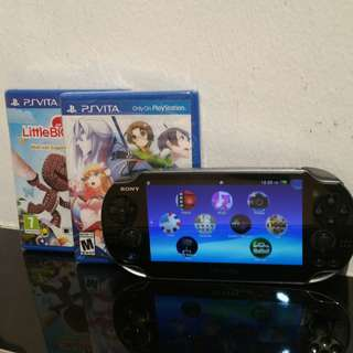 Ps vita with 2 Games @ $180