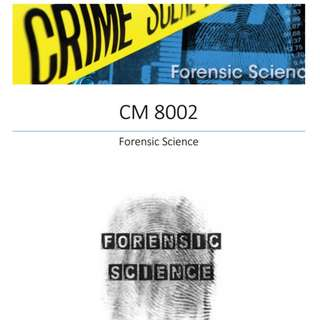 CM8002 FORENSIC SCIENCE