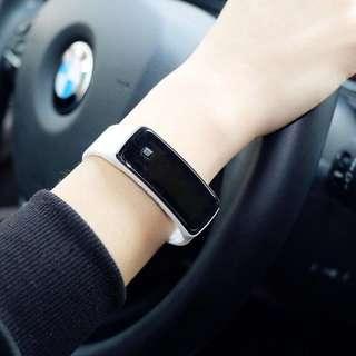 LED korean-style men silicone strap unisex watch for women