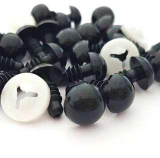 Black Safety Eyes For Amigurumi