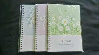 Notebook Set Bunga-Bunga