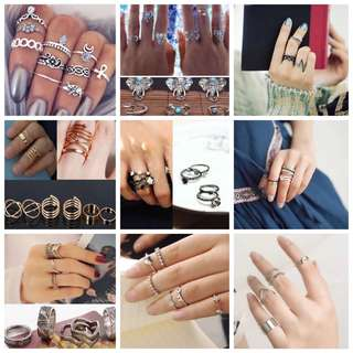 Clearance! All knuckle ring set selling at $1 per set!!