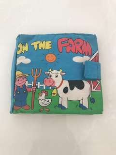 Preloved On the Farm Cloth Book