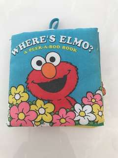 Preloved Where Is Elmo Cloth Book