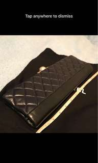 Chanel lamb leather clutch