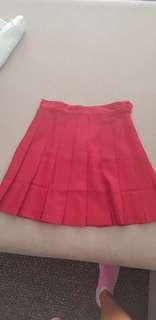 Dark red/maroon tennis skirt