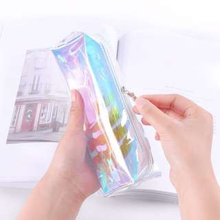 #664 Holographic Transparent Pencil Case (PO)