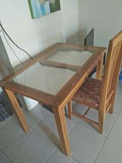 Jual bundle MURAH! , paket sofabed dan meja makan (bogor)