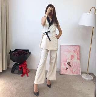 2018年Dior夏季 西裝馬甲+寬褲套裝 正式套裝