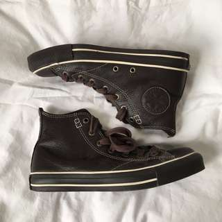 leather high top converse