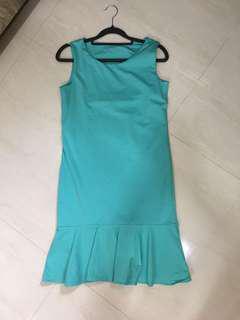 Turquoise green mermaid dress