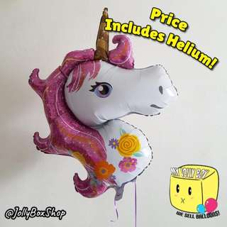 Pink Unicorn Balloon For Sale | Price Includes Helium