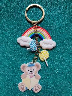 (4) Duffy Rainbow Bag Charm/ Key Chain