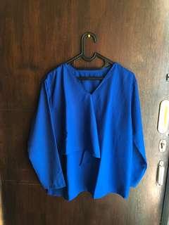 blue blouse NEW