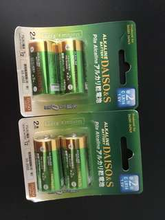 4 C Alkaline Battery