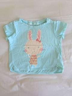 Top gingersnap bunny blue