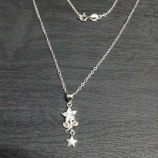 Rositas Flower Gem Stones Studded w/ Star 925 Silver Necklace