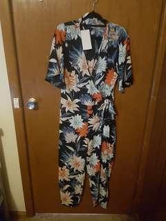 Zara big floral jumpsuit